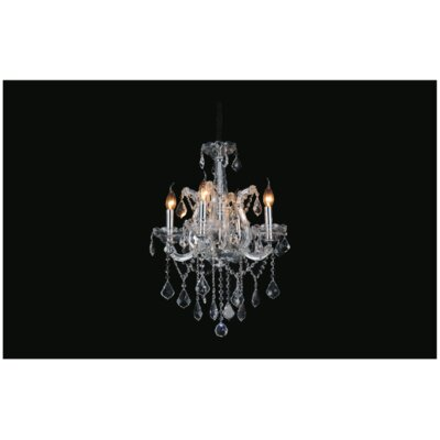 Orr 4-Light Candle-Style Chandelier Crystal Color: Clear, Size: 97 H x 18 W x 18 D