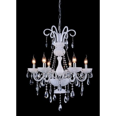 Yves 6-Light Candle-Style Chandelier