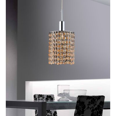 Boleyn 1-Light Chrome Mini Pendant Finish: Champagne