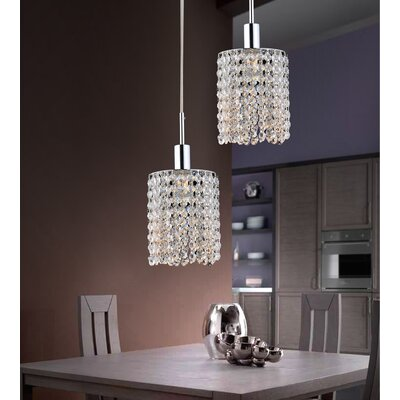 Boleyn 2-Light LED Crystal Pendant