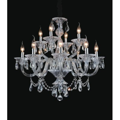 Zac 12-Light Candle-Style Chandelier