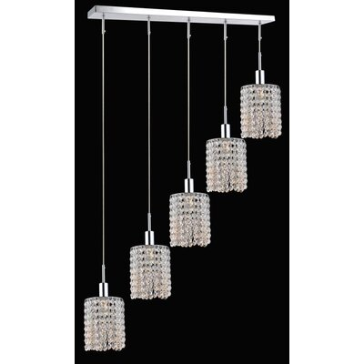 Boleyn 5-Light LED Crystal Pendant