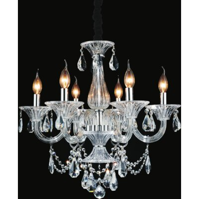 Zac 6-Light Candle-Style Chandelier