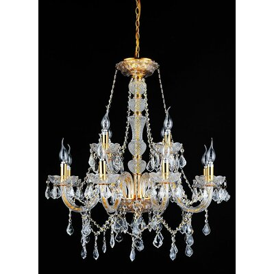 Yigal Gold 12-Light Candle-Style Chandelier
