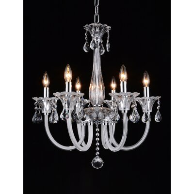 Waris 6-Light Candle-Style Chandelier
