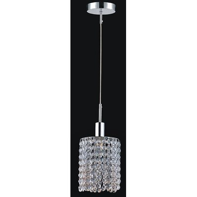 Boleyn 1-Light Chrome Mini Pendant Finish: Crystal