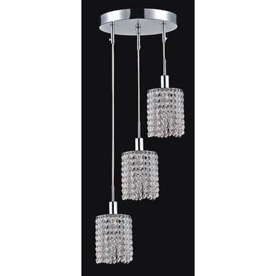 Boleyn Luxury 3-Light Crystal Pendant