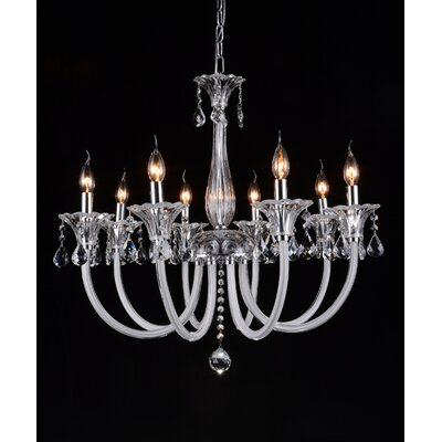 Waris 8-Light Candle-Style Chandelier