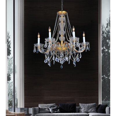 Yigal Gold 6-Light Candle-Style Chandelier