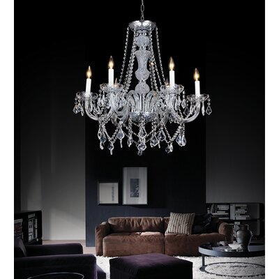Yigal 6-Light Candle-Style Chandelier