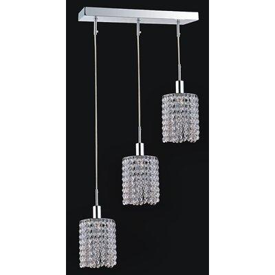 Boleyn Crystals 3-Light Crystal Pendant