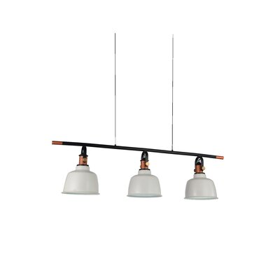 Tower Bell 3-Light Kitchen Island Pendant Shade Color: White