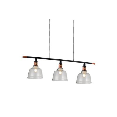 Tower Bell 3-Light Kitchen Island Pendant Shade Color: Smoke