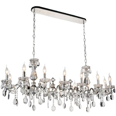 Combs 14-Light Crystal Pendant Finish: Chrome