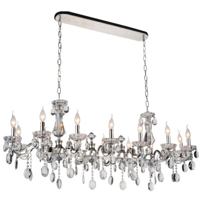 Combs 14-Light Crystal Pendant Finish: White