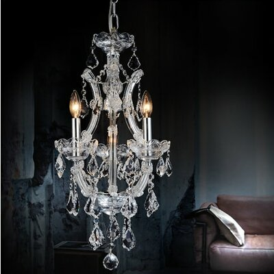 Orr Crystal 4-Light Candle-Style Chandelier Finish: Gold