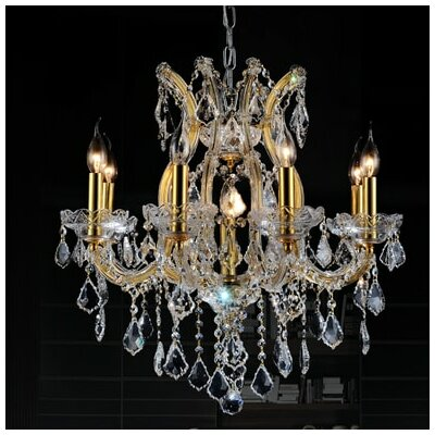 Orr Crystal 9-Light Candle-Style Chandelier Crystal Color: Clear