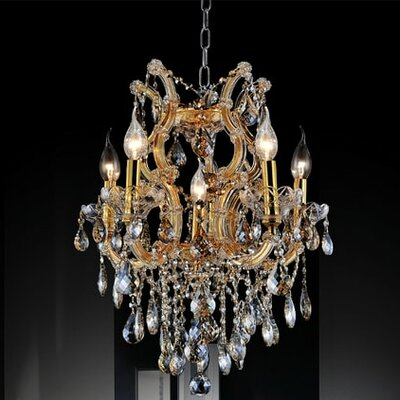 Orr Crystal 6-Light Candle-Style Chandelier Crystal Color: Clear