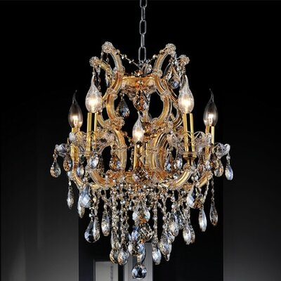 Orr Crystal 6-Light Candle-Style Chandelier Crystal Color: Smoke