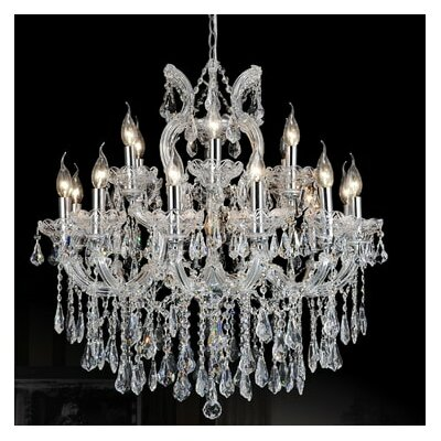 Orr Crystal 19-Light Candle-Style Chandelier Crystal Color: Cognac