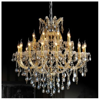 Orr Crystal 25-Light Candle-Style Chandelier Crystal Color: Clear