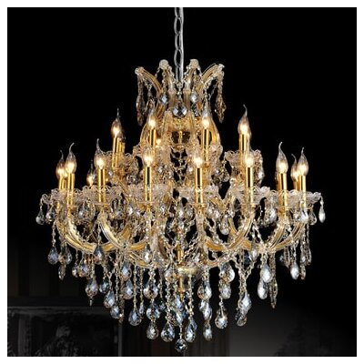 Orr Crystal 25-Light Candle-Style Chandelier Crystal Color: Smoke