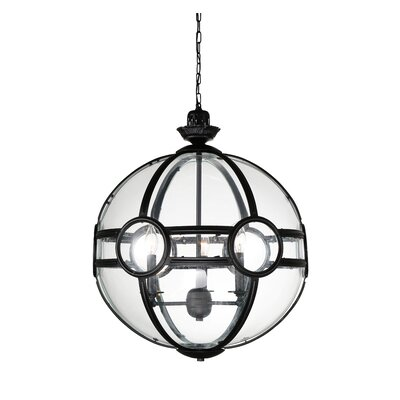Fanning 3-Light Globe Pendant