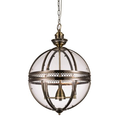 Reggie 3-Light Shaded Chandelier Finish: Bronze