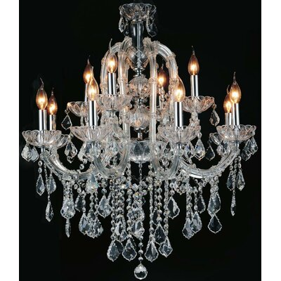 Davila Crystal 15-Light Candle-Style Chandelier