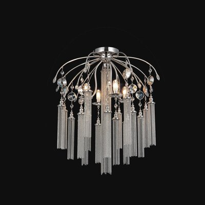 Cierra 7-Light Semi Flush Mount Finish: Chrome