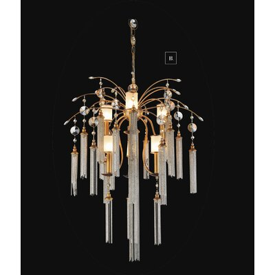 Cierra 7-Light Crystal Chandelier Finish: Gold