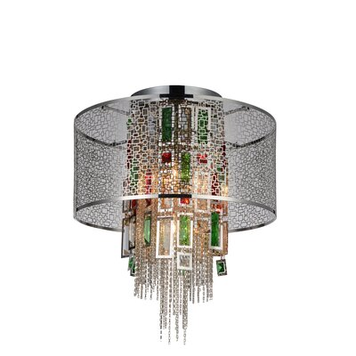Abril 5-Light Flush Mount Finish: Chrome