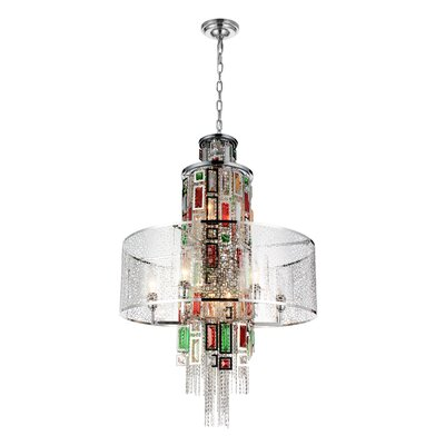 Hazel 11-Light Drum Chandelier Finish: Chrome