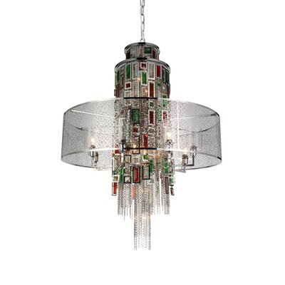 Deasia 15-Light Drum Chandelier Finish: Chrome
