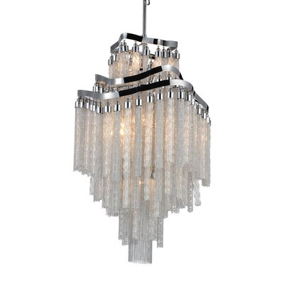 Anemone 10-Light Empire Chandelier Finish: Chrome