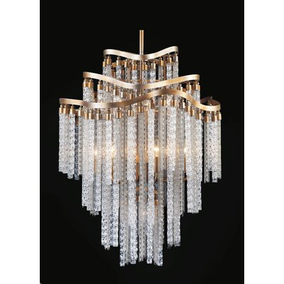 Andreasen 14-Light Waterfall Chandelier Finish: Gold