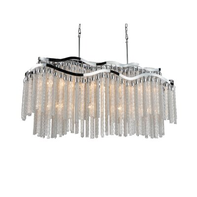 Titus 12-Light Waterfall Chandelier Finish: Chrome