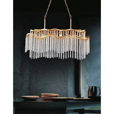 Titus 12-Light Waterfall Chandelier Finish: Gold
