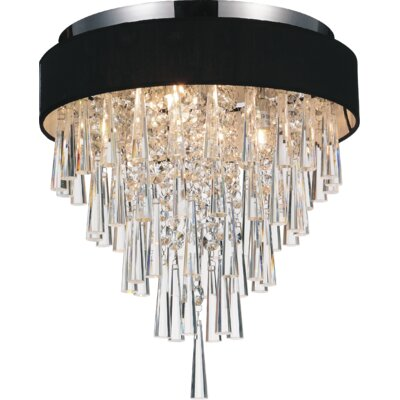 Chenai 4-Light Flush Mount Finish: Black