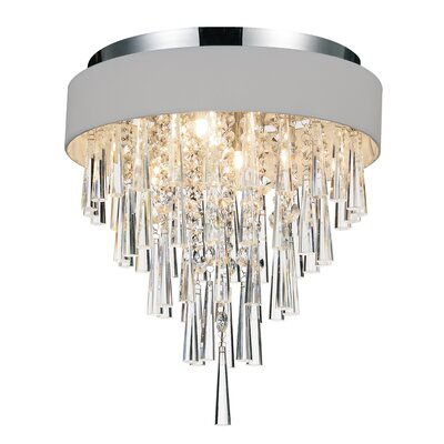 Chenai 4-Light Flush Mount Finish: Silver