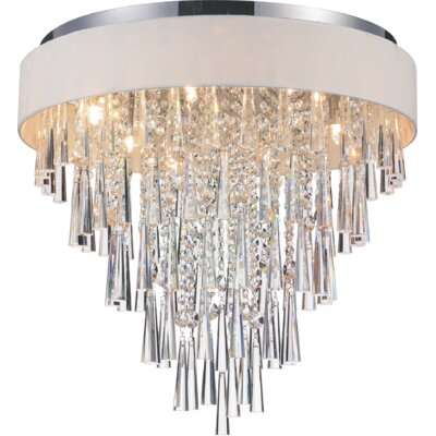 Chenai 8-Light Flush Mount Finish: Off White