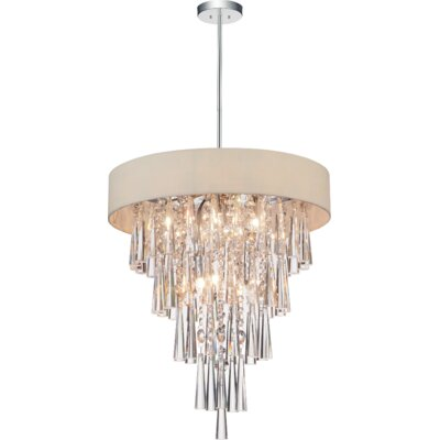 Chenai 6-Light Crystal Chandelier Finish: Beige