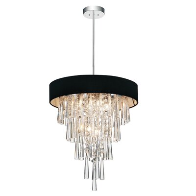 Chenai 6-Light Crystal Chandelier Finish: Black