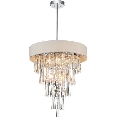 Chenai 6-Light Crystal Chandelier Finish: Off White
