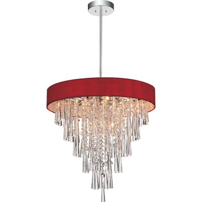 Chenai 6-Light Crystal Chandelier Finish: Wine Red
