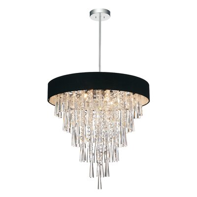 Chenai 8-Light Crystal Chandelier Finish: Black