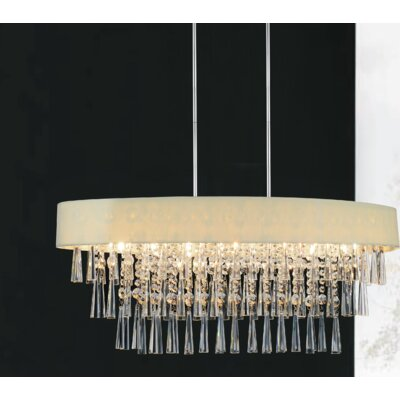 Chenai 8-Light Crystal Chandelier Finish: Beige