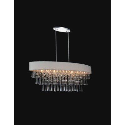 Chenai 8-Light Crystal Chandelier Finish: Off White