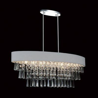 Chenai 8-Light Crystal Chandelier Finish: Silver