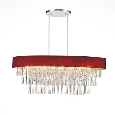 Chenai 8-Light Crystal Chandelier Finish: Wine Red
